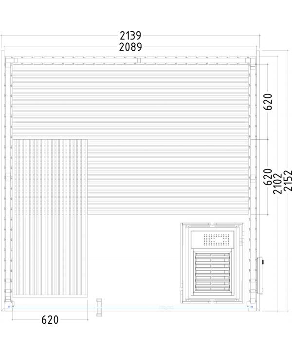 Sauna Panorama Large Grundriss